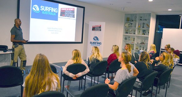Session with Surfing Australia