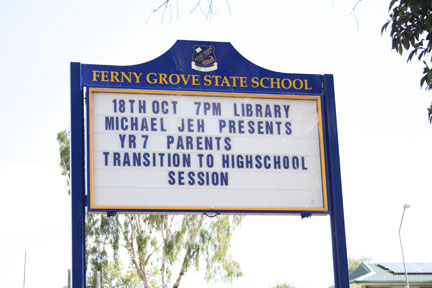 Michael Jeh at Ferny Grove State School